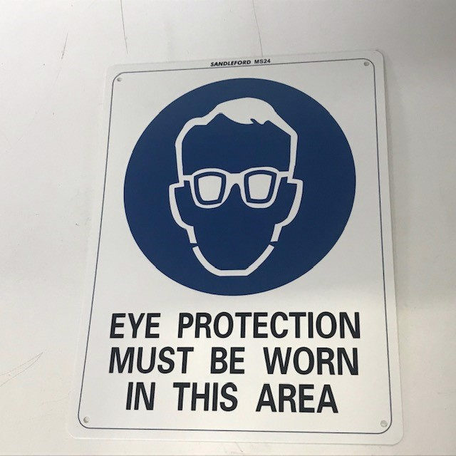 SIG0254 SIGN, Construction - Eye Protection Must Be Worn In This Area 22 x 29.5cm $8.75