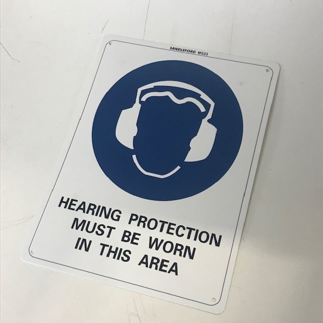 SIG0252 SIGN, Construction - Hearing Protection Must Be Worn In This Area $8.75