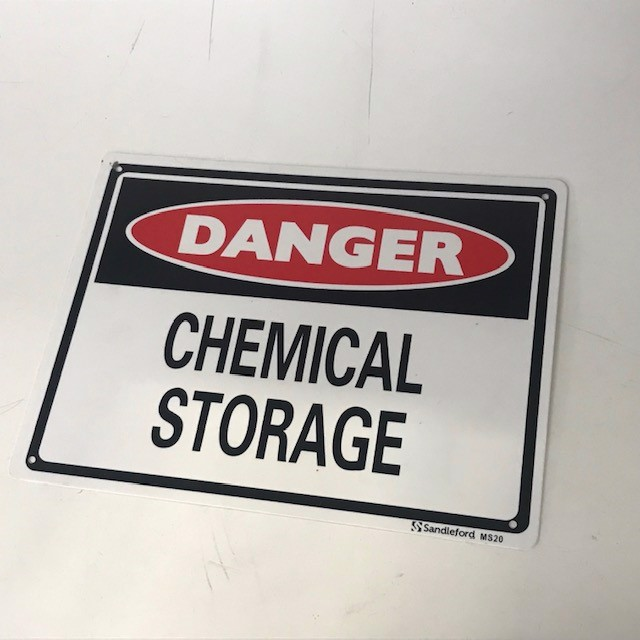SIG0689 SIGN, Safety - Danger Chemical Storage 22 x 29.5cm $8.75