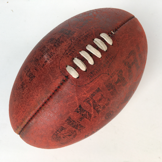 BAL0003 BALL, AFL Football - Vintage Red Leather Sherrin $22.50