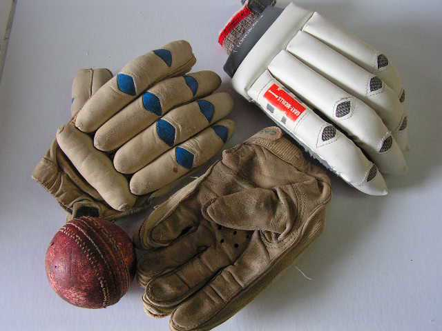 Propping - Batting Gloves & Ball