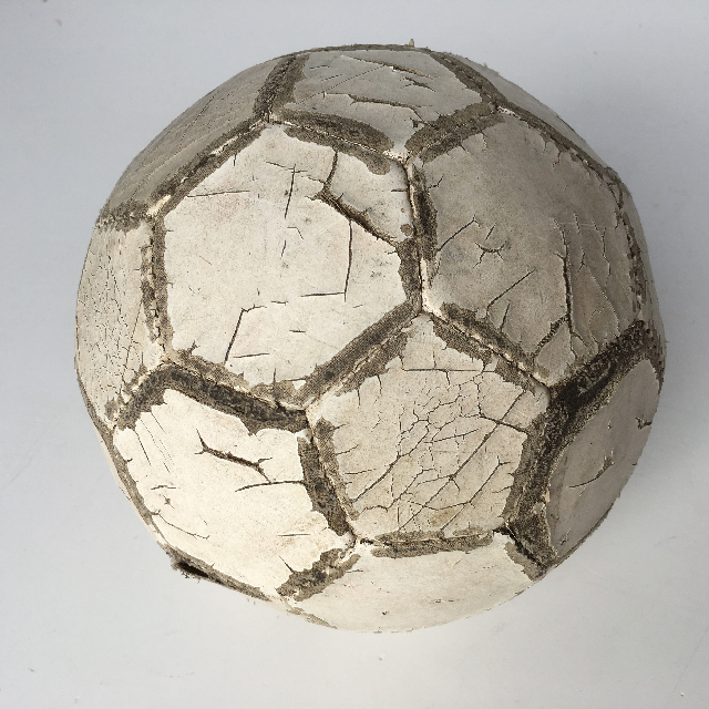 BAL0020 BALL, Soccer - Aged White Leather $11.25