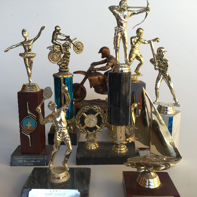 Assorted Trophies - Club & Figurine $3.75 - $10 each