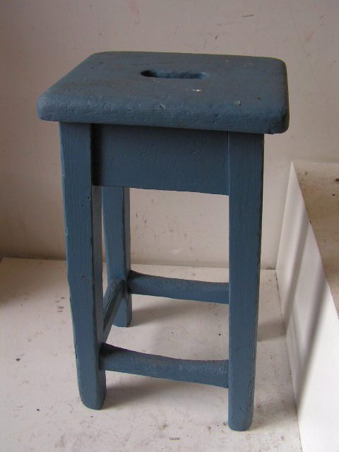 STO0315 STOOL, Square - Painted Blue $17.50