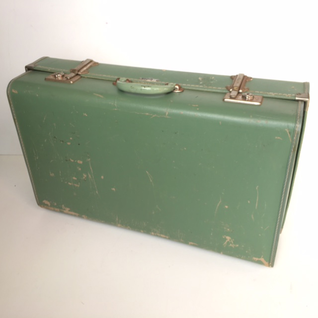SUI0023 SUITCASE, Medium Pale Green - 1950-60s $18.75