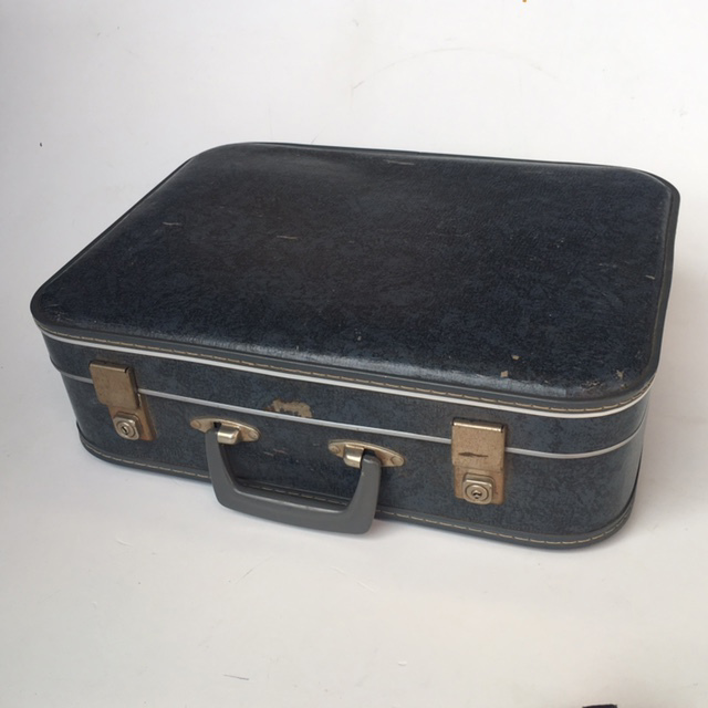 SUI0033 SUITCASE, Small Dark Blue Hardcase - 1960-70s $15