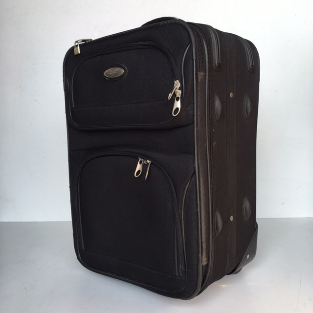 SUI0060 SUITCASE, Cabin Bag - Black $18.75