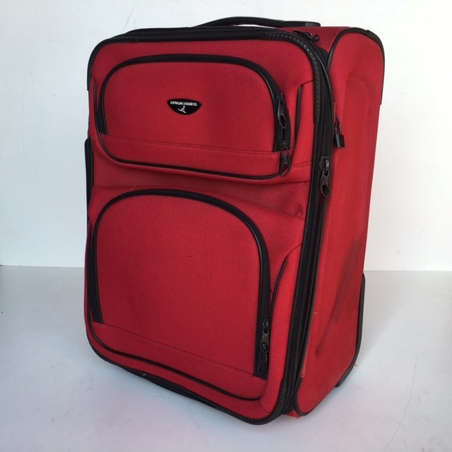 SUI0065 SUITCASE, Cabin Bag - Red Australian Travel Co $18.75