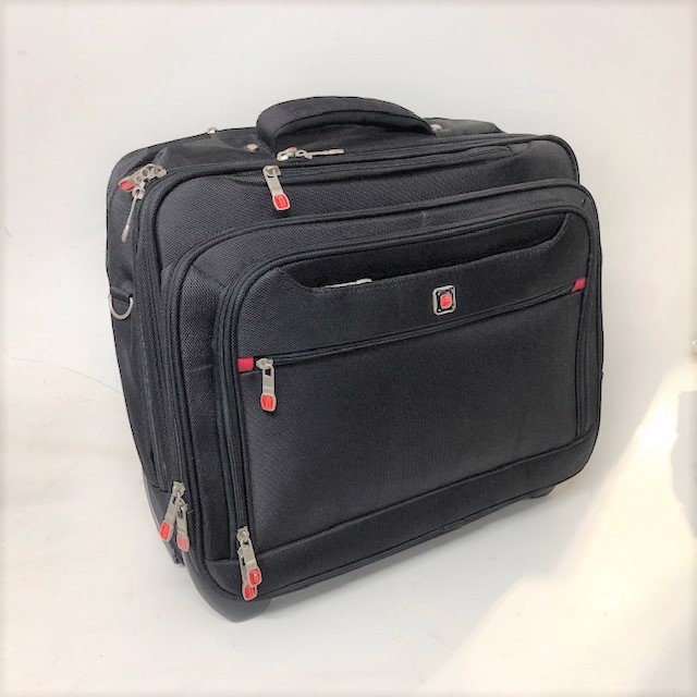 SUI0042 SUITCASE, Cabin Bag - Black Small $18.75
