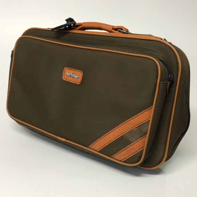 SUI0061 SUITCASE, Cabin Bag - Brown Bon Voyage w Tan Trim  $12.50