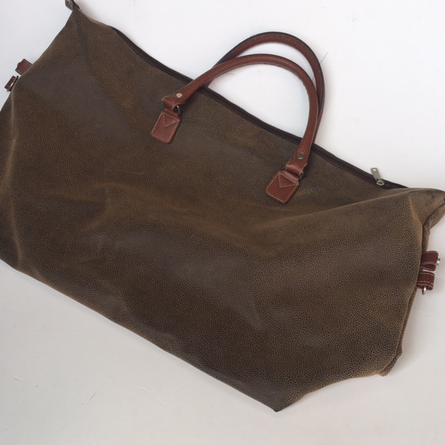 SUI0068 SUITCASE, Contemporary - Brown Leather Tote $18.75