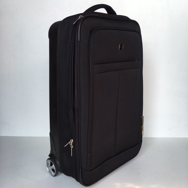 SUI0083 SUITCASE, Medium Black Soft Case $18.75