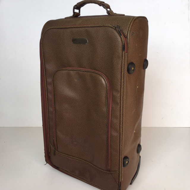 SUI0084 SUITCASE, Medium Brown Leather Look Billabong $18.75