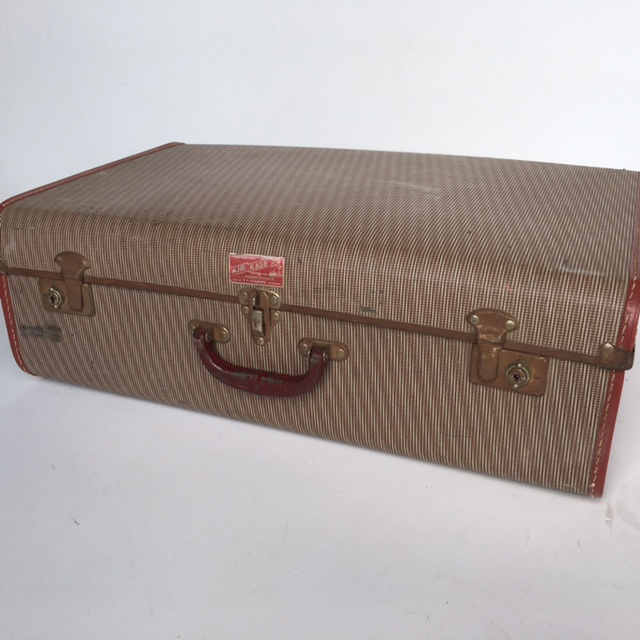SUI0114 SUITCASE, Vintage Style - Medium Brown $18.75