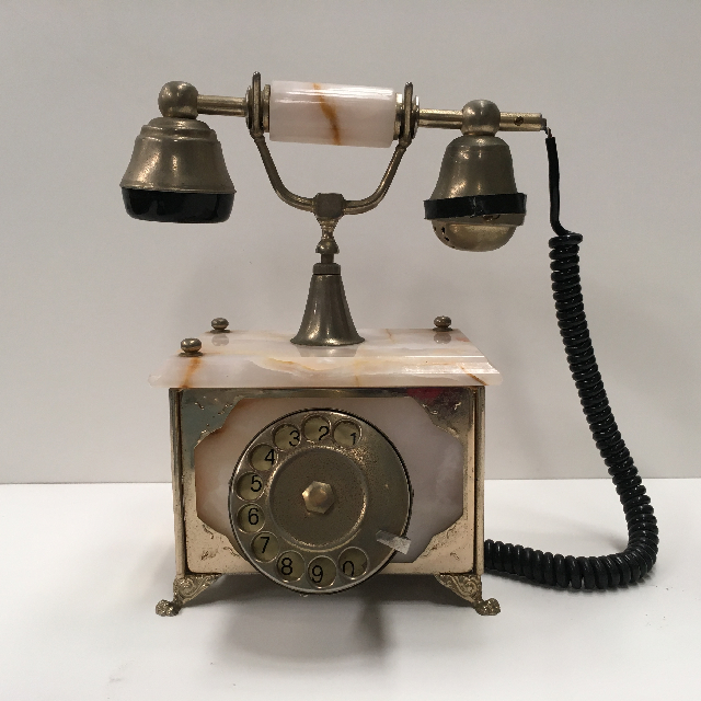 PHO0108 PHONE, Telephone 1900s Antique Marble $20