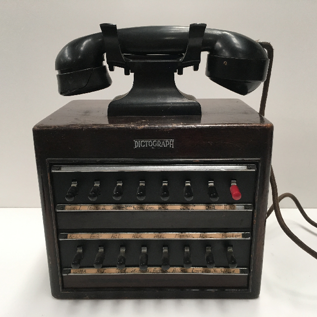 PHO0117 PHONE, Dictograph 1950s Switchboard (16 Switch) $45