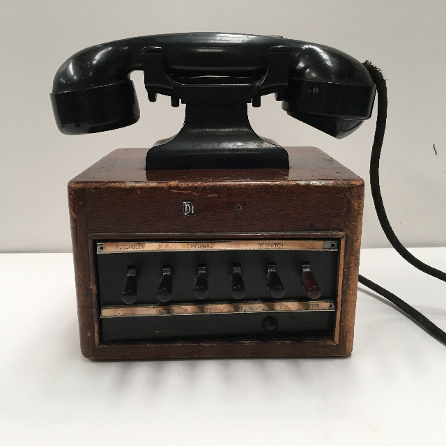 PHO0118 PHONE, Dictograph 1950s Switchboard (6 Switch) $37.50
