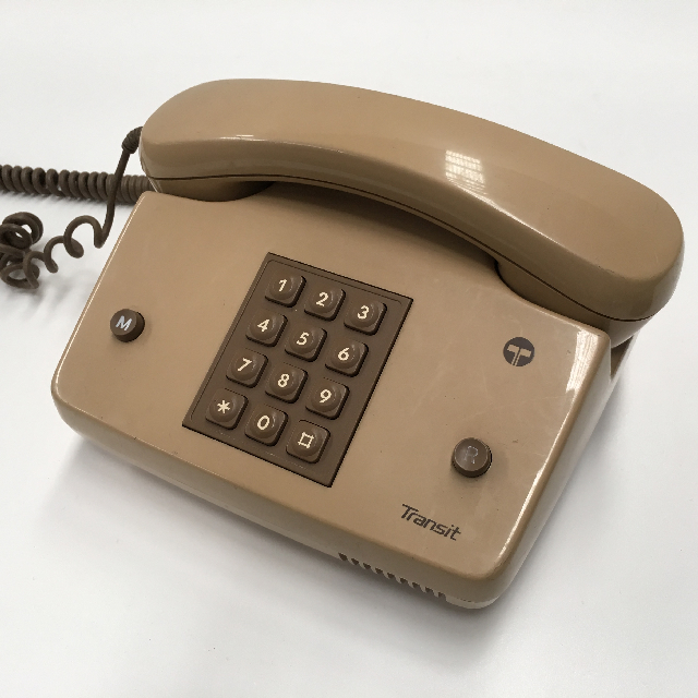 PHO0135 PHONE, Telephone 1984 Beige Telecom Push Button $18.75