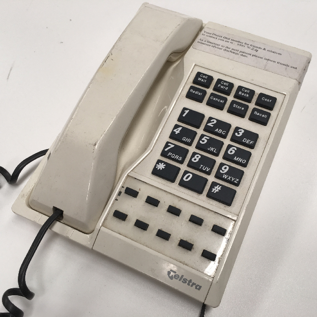 PHO0139 PHONE, Telephone 1990s Cream (Black Button) Telstra Touchfone $18.75