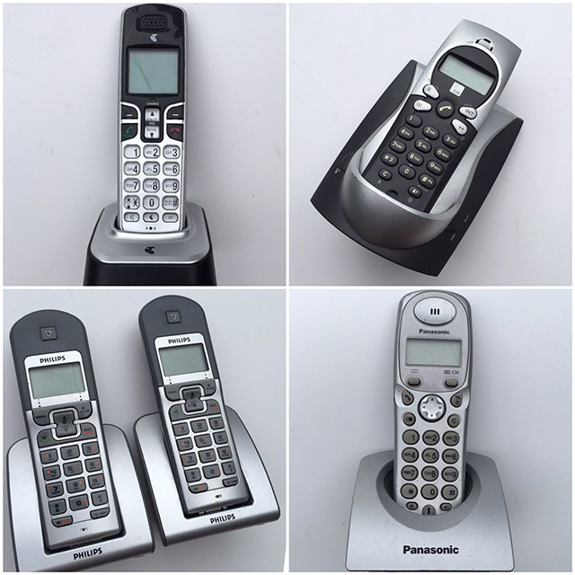 PHO0145 PHONE, Cordless Contemp. Silver Assorted $18.75