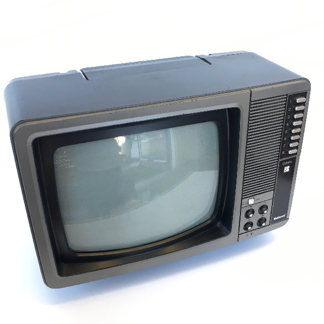 TEL0013 TELEVISION - Silver National Quintrix 45cm W $25
