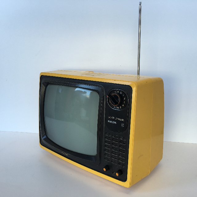 TEL0018 TELEVISION - Yellow Philips ACDC Portable 39cm W $25