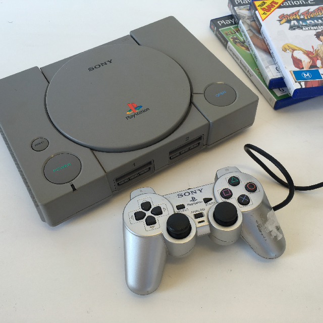 VID0008 VIDEO GAME CONSOLE, Playstation Grey $22.50