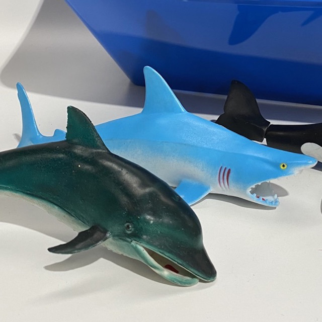 TOY0028 TOY, Plastic Whales, Shark, Dolphin $3