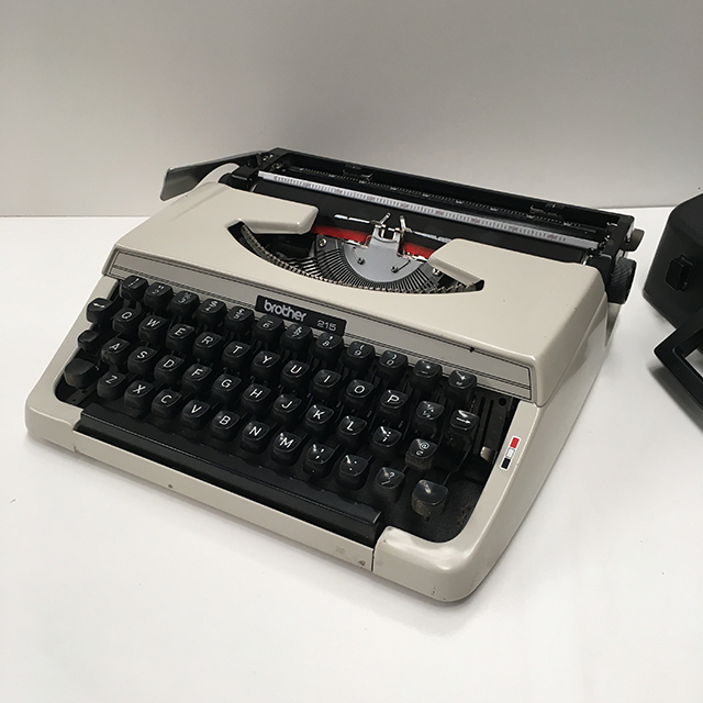 TYP0008 TYPEWRITER, Cream Brother 215 with Case 1970s  $25