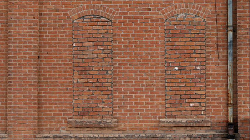 BACKDROP, Old Brick Wall (2 Together) 4.8 m x 2.7m H $300 (rigging additional)