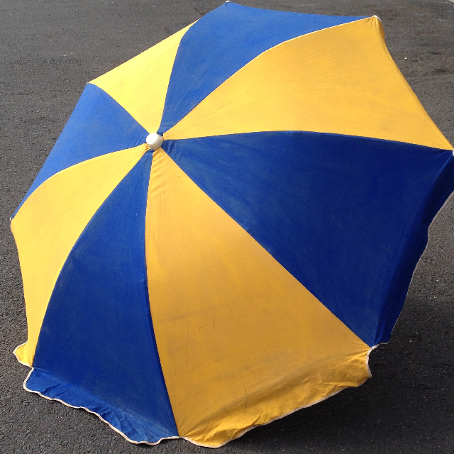 UMB0101 UMBRELLA, Beach - Blue & Yellow $18.75