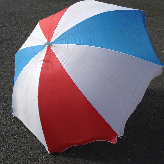 UMB0102 UMBRELLA, Beach - Red, White & Blue $12.50