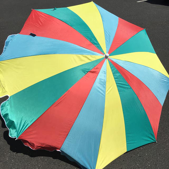 UMB0111 UMBRELLA, Beach - Aqua, Red & Yellow  $18.75