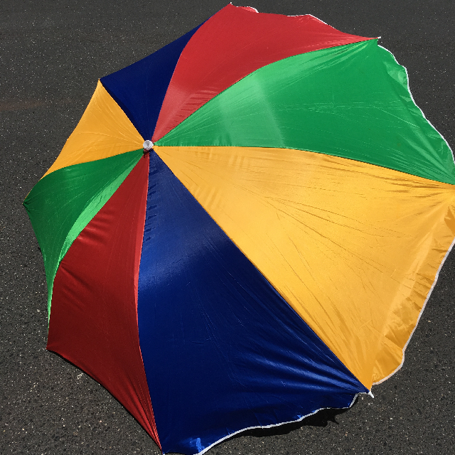 UMB0117 UMBRELLA, Beach - Primary Colours $12.50