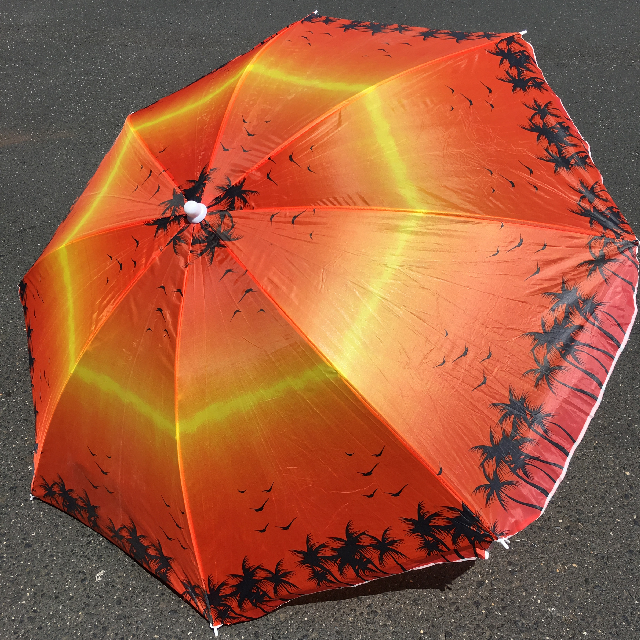 UMB0119 UMBRELLA, Beach - Sunset Palms $12.50