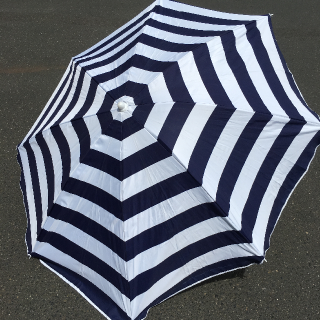 UMB0121 UMBRELLA, Beach - Navy & White Stripe $18.75