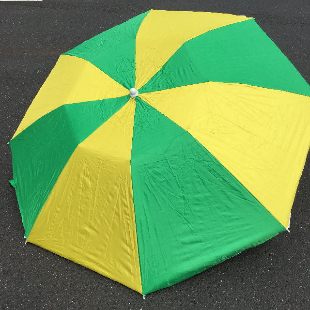 UMB0123 UMBRELLA, Beach - Green & Gold $18.75