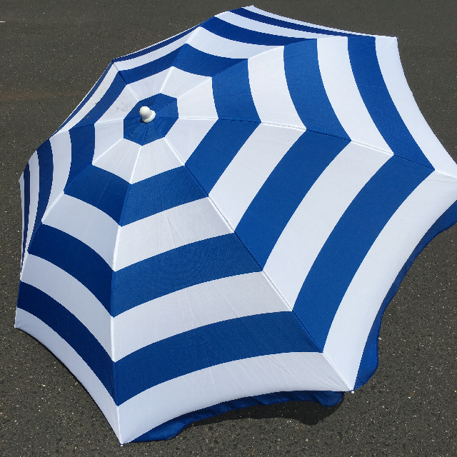 UMB0126 UMBRELLA, Beach - Royal Blue & White Stripe $18.75