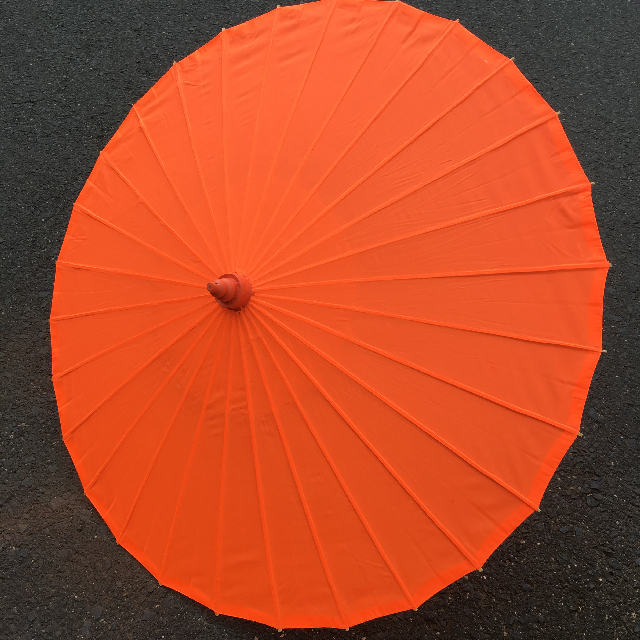 UMB0401 UMBRELLA, Asian - Fluro Orange Silk $10