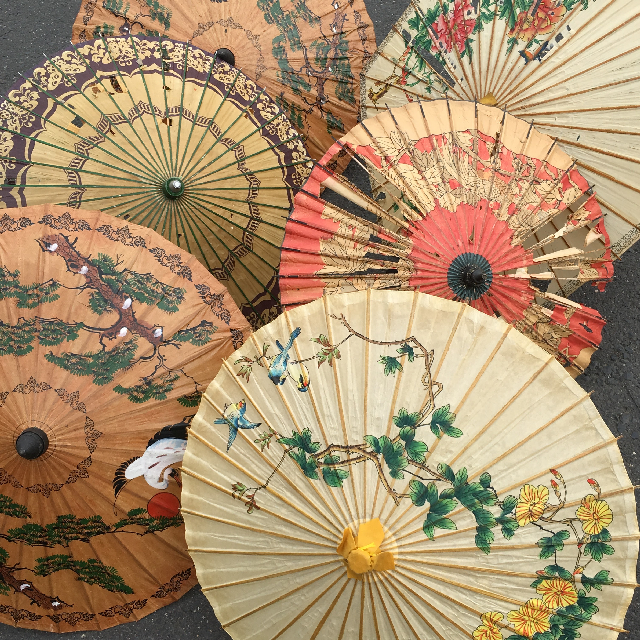UMB0407 UMBRELLA, Asian - Vintage Assorted $18.75