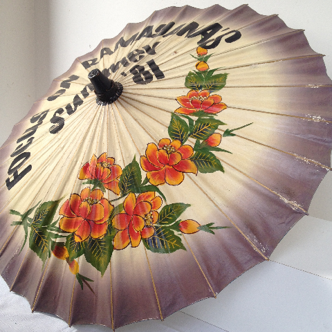 UMB0410 UMBRELLA, Asian - Floral