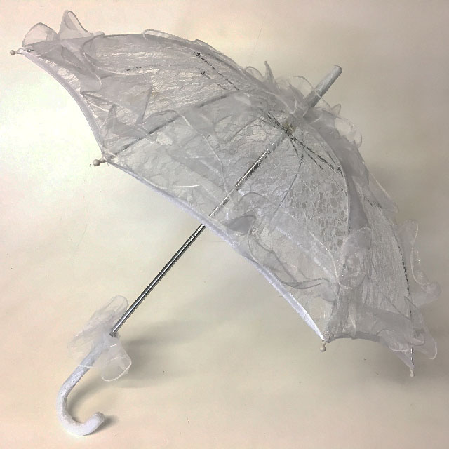 UMB0513 UMBRELLA, White Lace Assorted Sizes $11.25