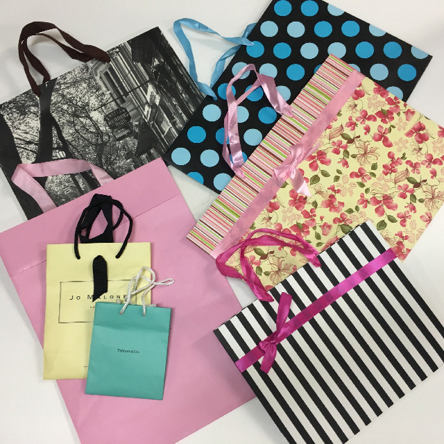 BAG, Designer Shopping - Small $2.50, Medium $3, Large $3.75