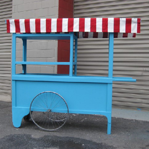 CAR0002 CART, Aqua - Large 2m Long x 65cm x 1.8m High $312.50 (Canopy Optional)
