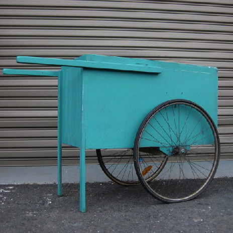 CAR0004 CART, Aqua - Small 103 x 70 x 93cm H (Length to end of Handle 141cm) $137.50
