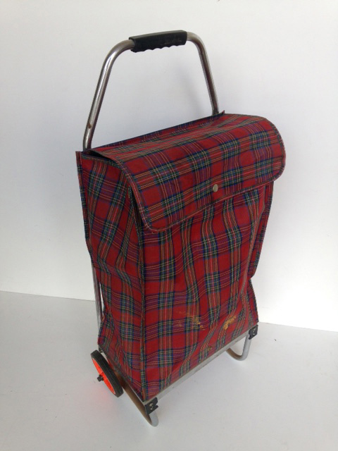 TRO0112 TROLLEY, Shopping Trolley - Red Tartan $12.50