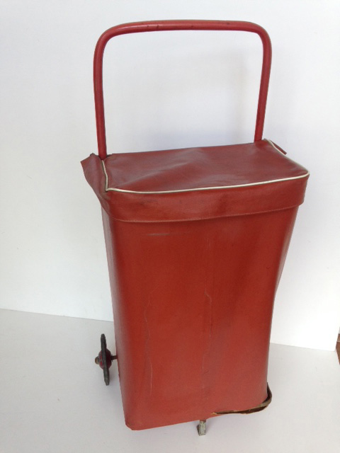 TRO0113 TROLLEY, Shopping Trolley - Rust Red Vinyl $18.75