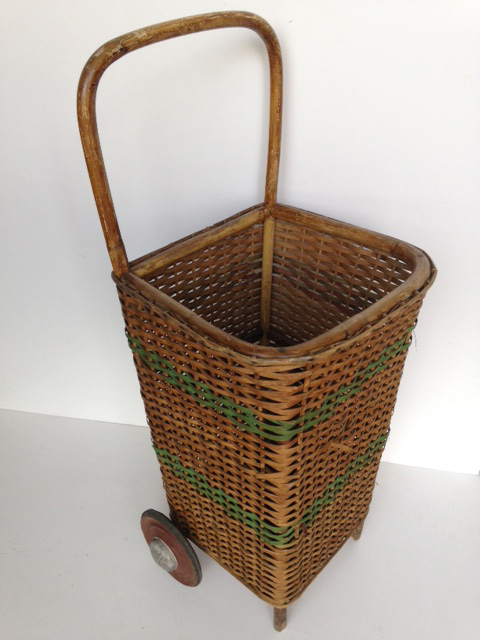 TRO0114 TROLLEY, Shopping Trolley - Vintage Cane $37.50