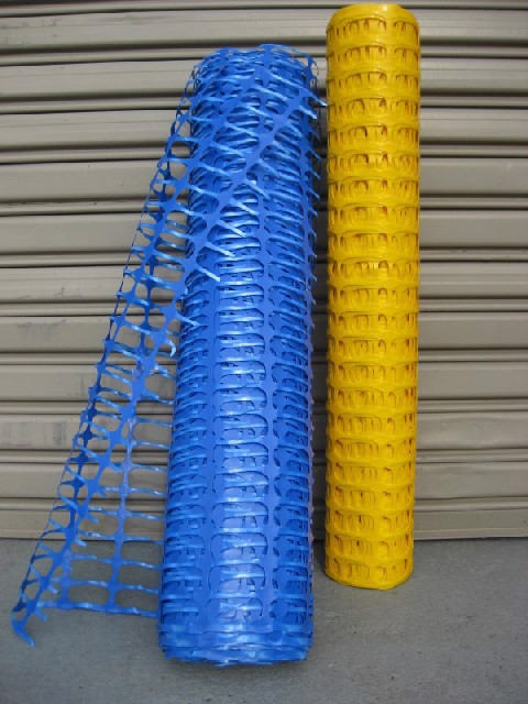 MESH, Safety Fencing 50m roll x 1m high - Blue (MES0001) & Yellow (MES0002) $18.75