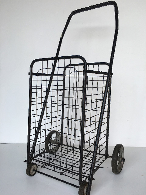 TRO0107 TROLLEY, Shopping Trolley - Black Wire $15
